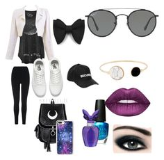 """Stary night"" by saturnssun on Polyvore featuring Chanel, Casetify, L.K.Bennett, Vans, OPI, Max Factor, Lime Crime, Mariah Carey, Ray-Ban and Vetements"
