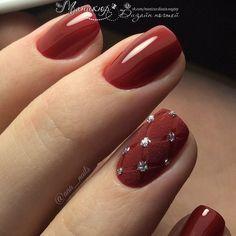 Фотография Glam Nails, Red Nails, Cute Nails, Pretty Nails, Beauty Nails, Hair And Nails, Red Nail Designs, Nail Polish Designs, Quilted Nails