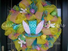 Easter Wreath created by Karen Harrison - Custom Wreath Designs by lilmaddy - Etsy Shop