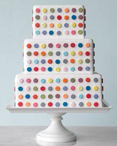 I love polka dots. I love rainbow colors. Therefore I love rainbow-colored polka-dot wedding cakes. Pretty Cakes, Cute Cakes, Beautiful Cakes, Amazing Cakes, Polka Dot Cakes, Polka Dots, Cake Magique, Bbq Dessert, Bolo Cake