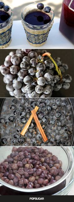 The Most Comforting Way to Drink Juice When the Weather Cools - Grape Recipes Yummy Drinks, Healthy Drinks, Yummy Food, Concord Grape Recipes, Margarita, Slow Cooker Recipes, Cooking Recipes, Grape Jam, Grape Jelly