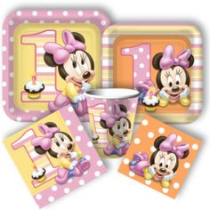 Minnie Mouse 1st Birthday Standard Party Pack