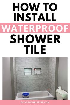 Are you dying to give your bathroom a makeover, but scared to tile? Then this tutorial is for you! DumaWall shower tile is one of the only groutless, waterproof shower systems on the market that will give you the custom-looking shower you crave with a superior waterproof system to traditional ceramic tile! We installed DumaWall DIY shower tile into our own bathroom remodel and LOVE how easy it was to install and to upkeep. #newhomeowners #diyshowertile #dumawall #groutlessshowerideas Cheap Bathroom Tiles, Diy Bathroom Reno, Cleaning Shower Tiles, Bathroom Tub Shower, Cheap Bathroom Remodel, Bathtub Remodel, Diy Shower, Shower Remodel, Budget Bathroom