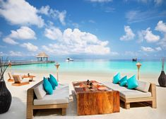 Jumeirah Vittaveli Bolifushi Island, Maldives Romance Trip Ideas sky leisure Sea caribbean Ocean Beach swimming pool Resort Coast Lagoon blue