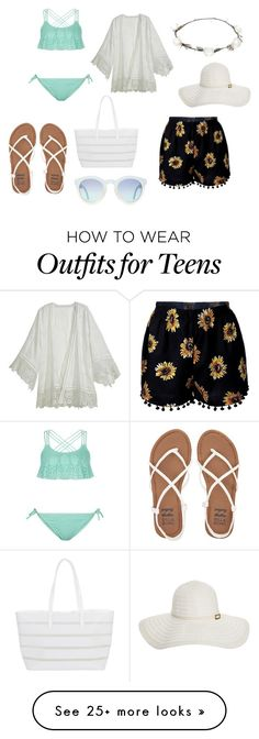 """Pool or beach look"" by kayla2558 on Polyvore featuring New Look, Billabong, BUCO, Calypso St. Barth, Lipsy, Melissa Odabash, Summer and beach"