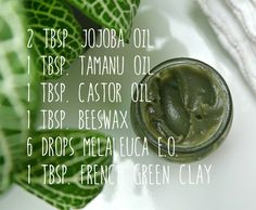 DIY Clay Oil Cleanser : won't dry your skin out, but will calm inflammation