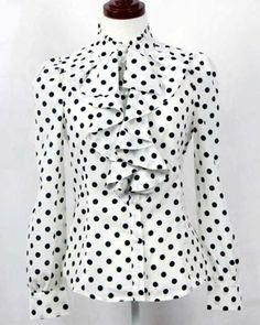 cd1817384f7bd fabricants fournissent printemps été 2013 nouveau mode coréenne pois volants  Tops Chemises femmes chemisiers formels daffaires