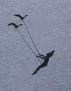Womens flying bird swing- scoop track t shirt american apparel- heather gray- available in S, M, L , XL WorldWide Shipping