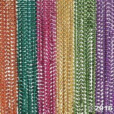 Metallic Neon Beaded Necklaces