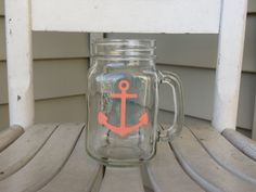 A personal favorite from my Etsy shop https://www.etsy.com/listing/237397426/mason-jar-with-coral-colored-anchor