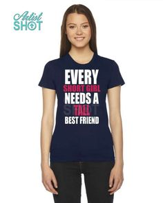 7547b278 Every short girl needs a tall best friend. #girl #bff #bestfriend #