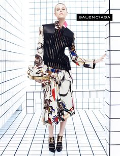 Milou van Groesen for BALENCIAGA campaign – by Steven Meisel