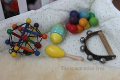 What sound? Reggio Inspired Baby Play Space - The Imagination Tree