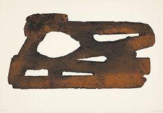 "Pierre Soulages (Born 1919 Rodez) ""Eau-forte XXVII"" Farbaquatintaradierung 1974 53 x 75.3 cm Pr. 35.5 x 69 cm"