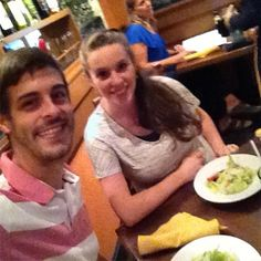 """Derick Dillard on Instagram: """"Celebrating our 3rd anniversary with dinner @olivegarden after a fun day together at #silverdollarcity I love you @jillmdillard more every…"""""""