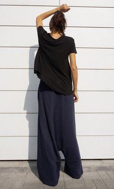 NEW Fall Winter Collection Cotton Navy Harem Pants / от Aakasha