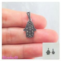 """MEN 925 STERLING SILVER /""""WORLD IS YOURS/"""" GOLD//SILVER CHARM PENDANT*SP138"""