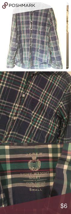 EUC jcrew button down. Unisex. 100%cotton Great classic J. Crew  plaid. Soft cotton. Men's small, women's medium J. Crew Shirts Casual Button Down Shirts
