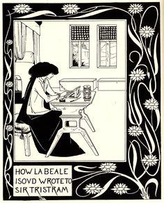 Beardsley 1872-1898, Aubrey, England How la Beale Isoud wrote to Sir Tristram