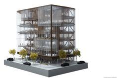 Imagen 8 de 10 de la galería de SHoP diseña nuevas oficinas centrales de Uber en San Francisco. Fotografía de SHoP Architects