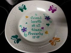 write on plates with sharpie and bake | DIY Sharpie Plate - thought I would finally try some of the things I ...