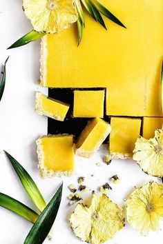 pineapple, ginger and turmeric tart