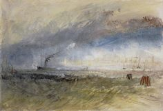 J. M. W. Turner, (1775-1851), Venice from the Laguna, about 1835. Watercolour, pen and ink and scraping on paper, 22.10 x 32.00 cm. Henry Vaughan Bequest 1900. Scottish National Gallery.