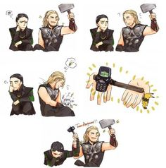 This is just a cute funny thing about Loki and Thor that I like. Notice the Pikachu!
