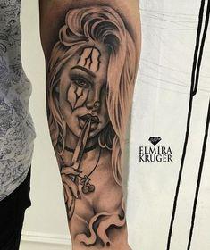 Everything with the beginning I wish you all, заб to understand .- Alles mit dem Beginn 🍾 Ich wünsche Ihnen allen, заб zu verstecken … Everything at the beginning 🍾 I wish you all to hide заб … – – - Gangster Tattoos, Dope Tattoos, Hand Tattoos, Chicanas Tattoo, Clown Tattoo, Forarm Tattoos, Badass Tattoos, Tattoo Fonts, Body Art Tattoos
