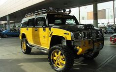Custom Black And Yellow Hummer H3