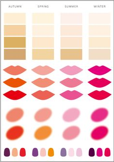 Cool Winter Color Palette, Deep Winter Colors, Spring Color Palette, Summer Colors, Bright Spring, Warm Spring, Cool Skin Tone, Seasonal Color Analysis, Beauty And Fashion