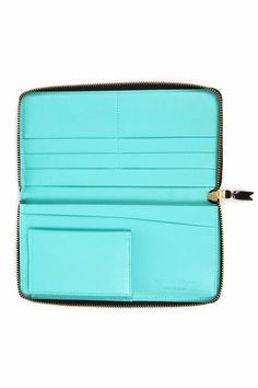 Comme des Garcons : glossy long zip-around wallet
