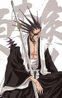 Kenpachi Zaraki (更木 剣八, Zaraki Kenpachi) is the current captain of the Division in the Gotei He is the eleventh Kenpachi to hold the position. His lieutenant is Yachiru Kusajishi. 5 Anime, Anime Shows, Anime Comics, Anime Love, Anime Guys, Anime Art, Bleach Manga, Kon Bleach, Bleach Cosplay