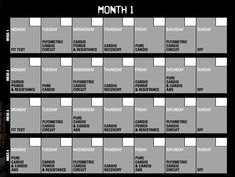 7 Best Insanity Calendar Images Insanity Workout Calendar