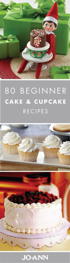 Wow your guests—and their taste buds—with one of these delicious 80 Cake and Cupcake recipes for beginners. Simple enough to make, you can quickly whip up one of these adorably decorated, festive desserts for any occasion this holiday season.