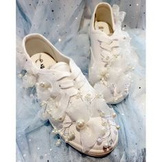 Womens Crystal Beaded Floral Canvas Sneakers Low Top Shoes Flat Heel Lace Up