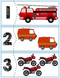 Transportation Self-Correcting Quantity Puzzles Autism Activities, Camping Activities, Classroom Activities, Book Activities, Kindergarten Math, Preschool Activities, Transportation Unit, Petite Section, Kids Education