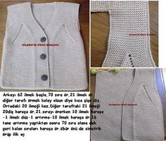 "246 Likes, 13 Comments - Hülya Özdemir (@ozdemirhulya) on Instagram: ""#baby #vest #pattern #knitting #handmade #örgü #yelek #anlatım 🎀"""