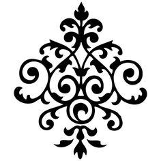 šablone - Cvijet.info FORUM - Stranica 1 Stencil Patterns, Doodle Patterns, Stencil Designs, Pattern Art, Stencils, Stencil Diy, Motif Vector, Cnc Cutting Design, Crochet Bedspread Pattern