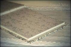 Lace guestbook / wishbook -  Vintage wedding stationery - Beyond Verve