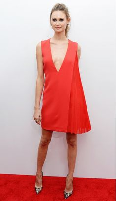 Behati Prinsloo wore summer's most talked about neckline in the form of this stunning Dior dress // #CelebrityStyle