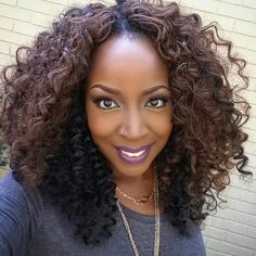 Crochet kima ocean wave cut into a bob like style hairstyles crochet braids weave - Crochet braids avec xpression ...