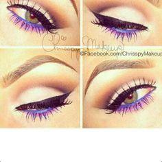 Pretty eye makeup!
