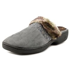 Isotoner Woodlands Clog Women Us 6.5 Gray Slipper Nwob 1076