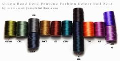 Pantone Fall 2015 matched with C-Lon Colors - Marion Jewels in Fiber