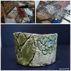Imprinting on Concrete Pottery - HOME SWEET HOME Craftster Best of 2014 Winning Project