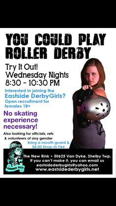 Eastside Derby Girls - Roller Derby, Shelby Township, Detroit Metro, Michigan. www.eastsidederbygirls.net