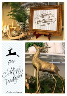 Christmas Printables in Blue - http://refreshrestyle.com