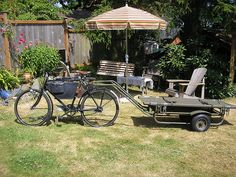 Swiss Army bicycle with trailer