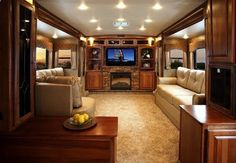 Luxurious RV living room. GLAMPING !